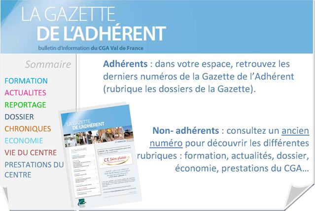 La Gazette de l'adhérent